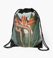 Botanical illustration: Bird of Paradise (Strelitzia) – State Library Victoria Drawstring Bag