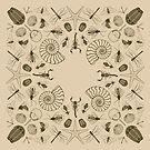 Invertebrate Fossil Bandana Design by Mary Capaldi