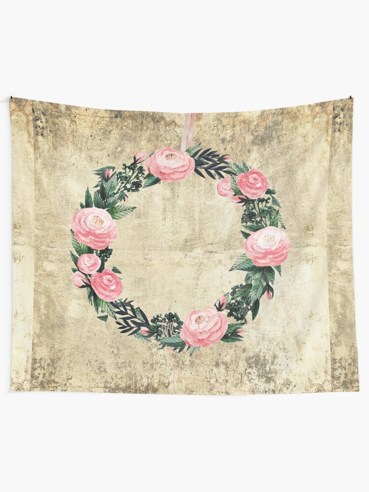 Alternate view of Wreath #Rose Flowers #Royal collection Tapestry
