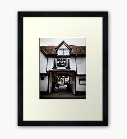 The George Hotel, Wallingford, Oxfordshire Framed Print
