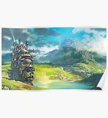 Howl's Moving Castle (Studio Ghibli anime) Poster