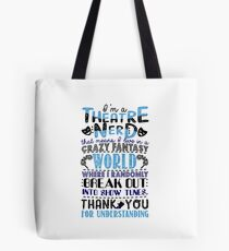 Funny Theatre Nerd Definition T-shirt Tote Bag
