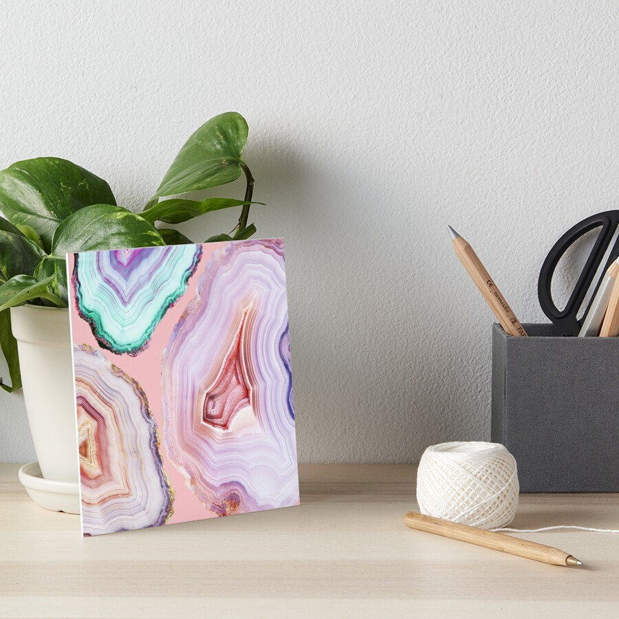 Mineral Agates #Glam collection Art Board Print