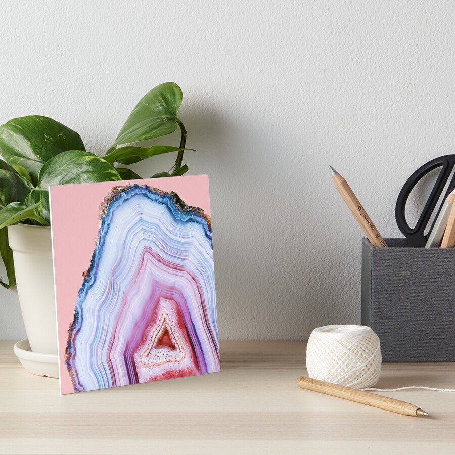 Agate Beauty #Glam collection Art Board Print
