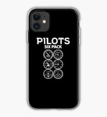 Pilots Sixpack - Funny Aviation Quotes Gift iPhone-Hülle & Cover