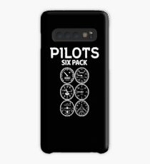 Pilots Sixpack - Funny Aviation Quotes Gift Hülle & Klebefolie für Samsung Galaxy