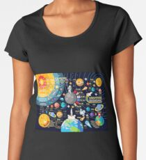 Space Universe Infographics Big Bang Women's Premium T-Shirt