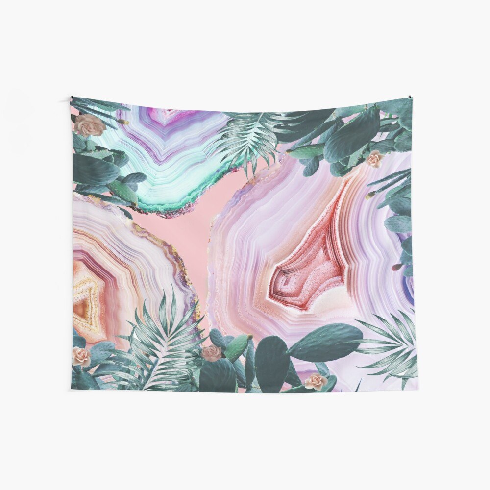 Mineral Agates & Garden #Glam collection Wall Tapestry