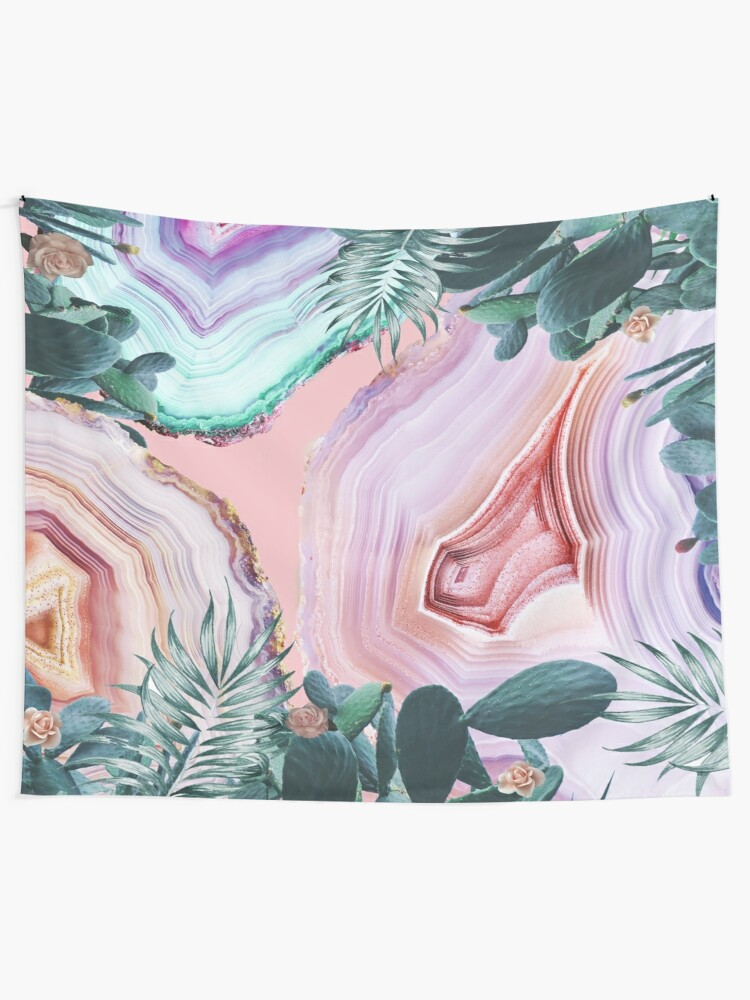 Alternate view of Mineral Agates & Garden #Glam collection Tapestry