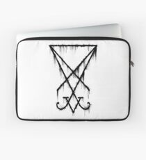 Lucifer Sigil - The Devil's Symbol Black Grunge Laptop Sleeve