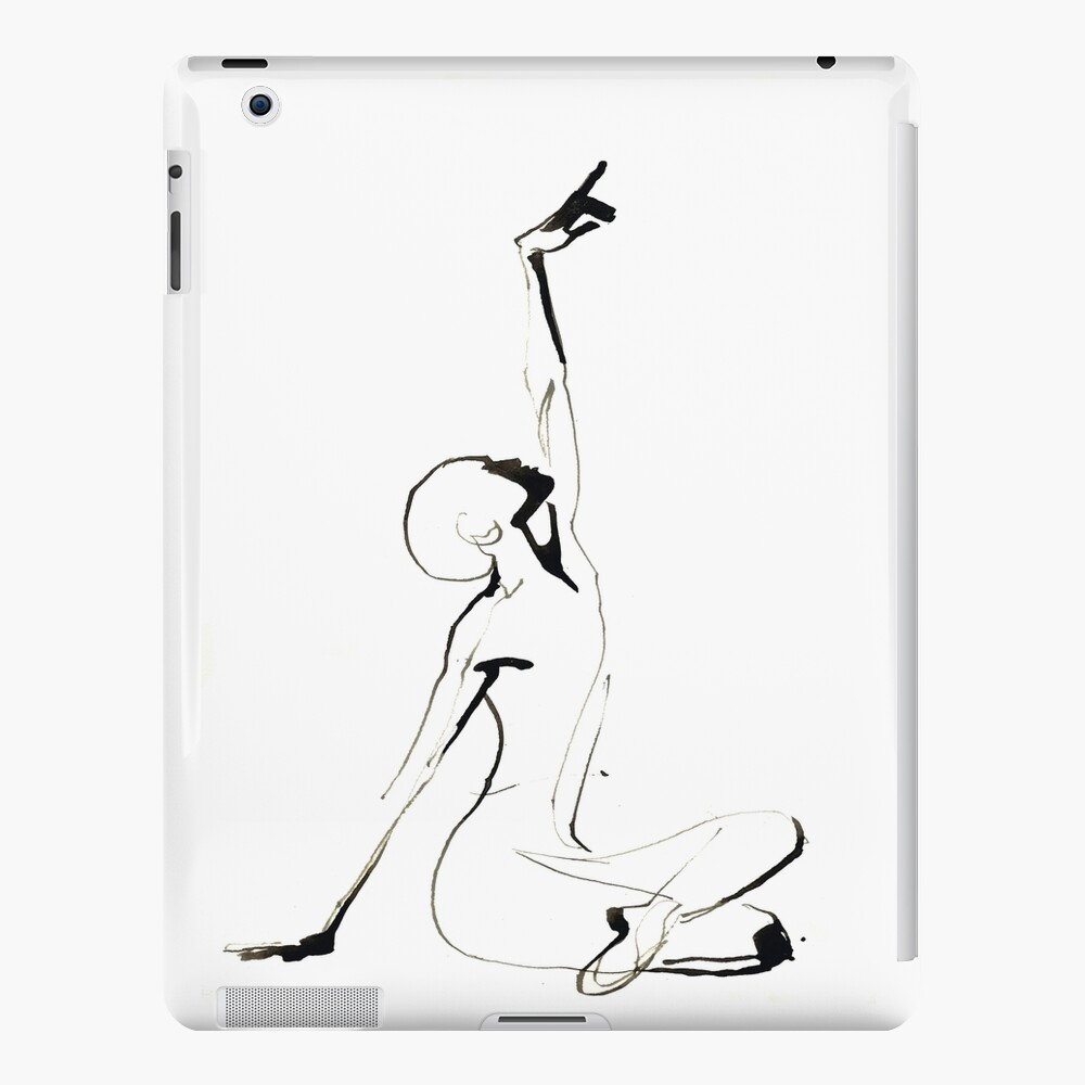 India Ink Dance Drawing iPad Case & Skin