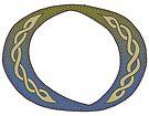 Celtic Knotwork Alphabet - Letter O by Carrie Dennison