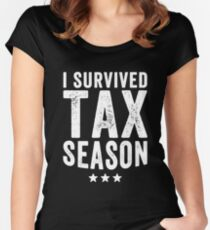 I survived Tax season - Funny CPA Accountant  Women's Fitted Scoop T-Shirt