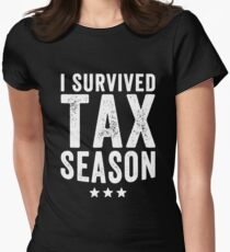 I survived Tax season - Funny CPA Accountant  Women's Fitted T-Shirt