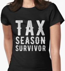 Tax season survivor - Funny CPA Accountant  Women's Fitted T-Shirt