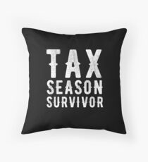 Tax season survivor - Funny CPA Accountant  Throw Pillow