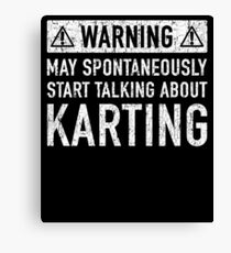 Karting Related Gift Canvas Print
