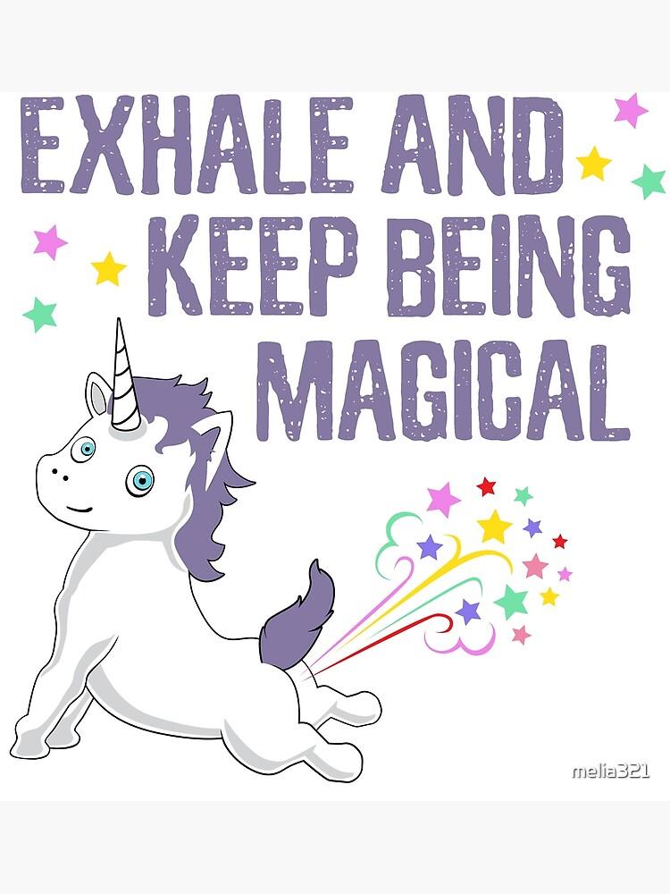 Niedliches Einhorn Unicorn Yoga T Shirt Cooles Unicorn Spruche Spruch Shirt Comic Geschenkidee Poster