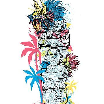 Mayan Sculpture's by hip-hop-art