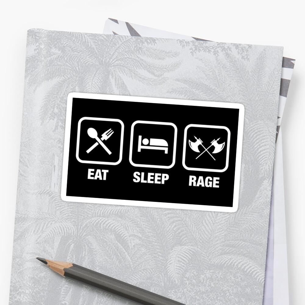 Eat Sleep Rage Barbarian Tabletop Juegos de rol Pegatinas