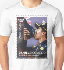 Lick the Stamp | Daniel Ricciardo | F1 Unisex T-Shirt