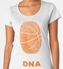 Basketball Is In My DNA Fingerprint Shirt, Hoodie, Coffee Mug Cup for Team, Player, Coach - Gift for Mom, Dad, Mother's Day, Father's Day Women's Premium T-Shirt