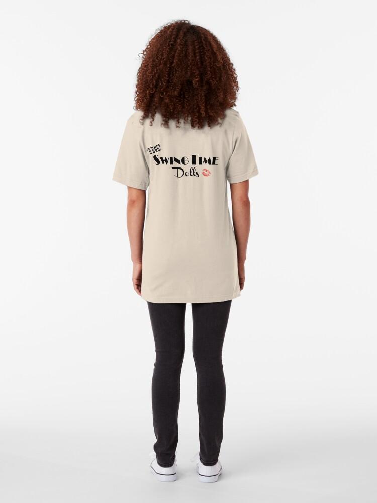 Alternate view of Official SwingTime Dolls Logo Slim Fit T-Shirt