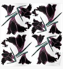 Pattern brush flower Poster