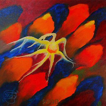 Oil Painting - Upstream, Abstract 2008 by IgorPozdnyakov