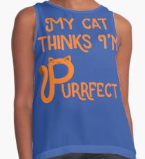 My Cat Thinks I'm Purrfect Contrast Tank