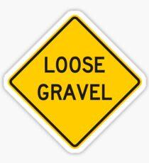 Loose Gravel Sign Sticker