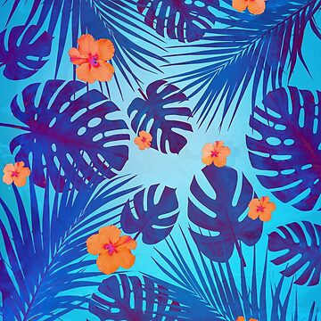 Monstera leaves in the midnight summer by mikath