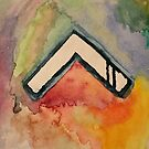 Abstract watercolor chevron by cocodesigns