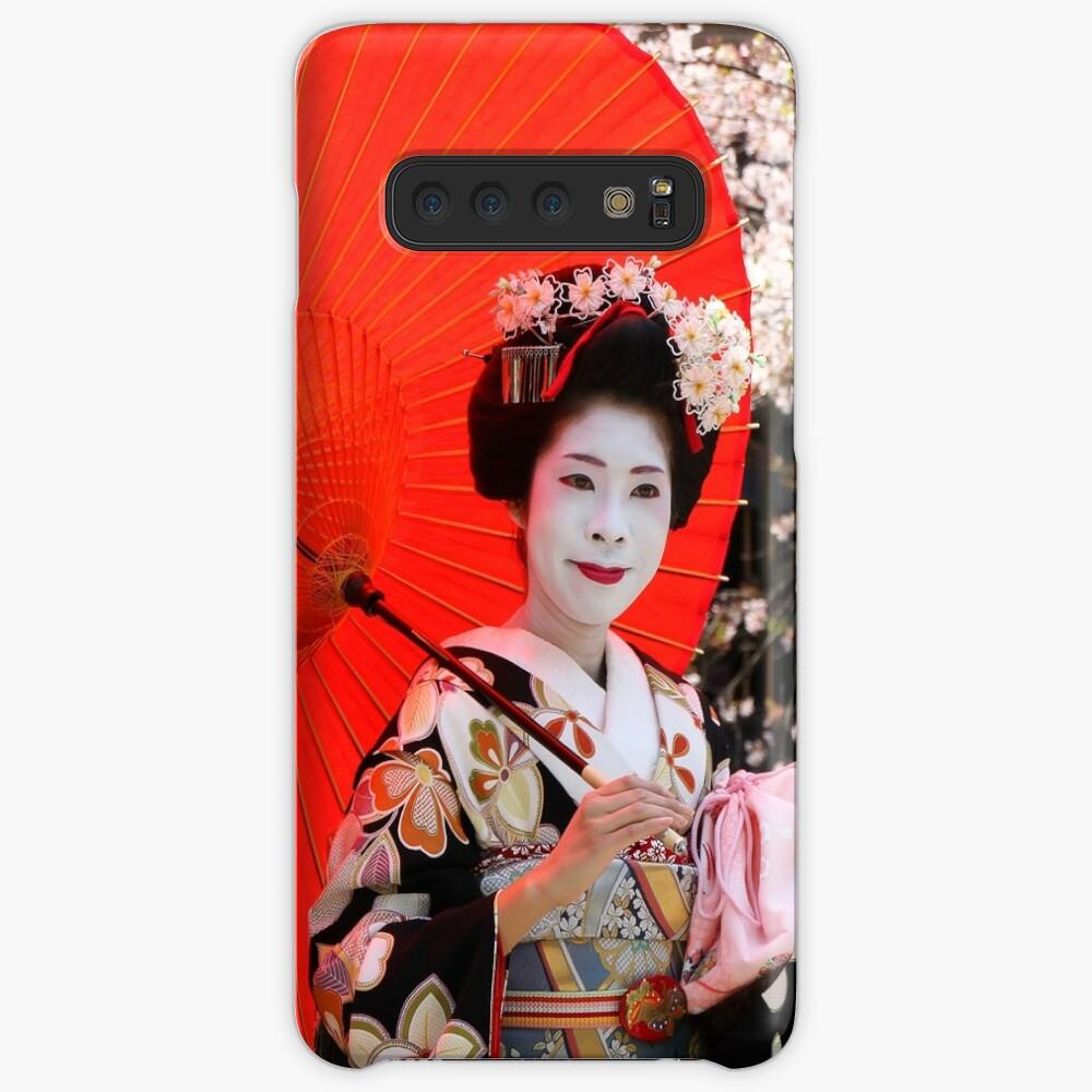 Red umbrella Case & Skin for Samsung Galaxy