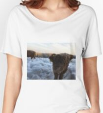 Scottish Highland Cattle Calf 1656 Women's Relaxed Fit T-Shirt
