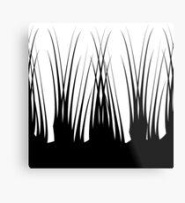 Graphic Black & White design. Metal Print