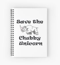 Save the Chubby Unicorn Rhinos Earth Day Environmental  Spiral Notebook