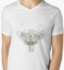 Sewer Princess Sunset Men's V-Neck T-Shirt