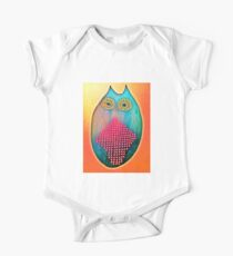 Psychedelic Owl  One Piece - Short Sleeve