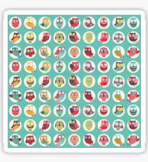 Happy owls. Sticker