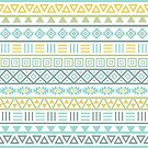 Aztec Influence II Pattern Colorful by NataliePaskell