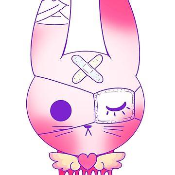 yami kawaii hurt bunny by Nekoraptor