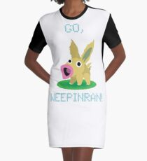 Cute Weepinran Pokemon Fusion Graphic T-Shirt Dress