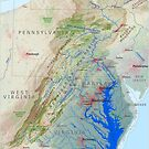 Chesapeake Bay Watershed Map - Labeled by kmusser