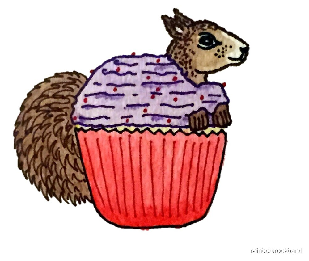 Squirrel in My Cupcake by rainbowrockband