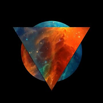Abstract Geometry: Intersect (Orange/Blue Nebula) by Talminator