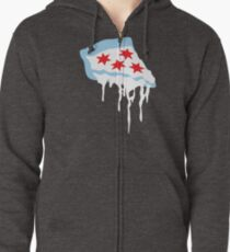 Chicago Deep Dish Pizza Zipped Hoodie