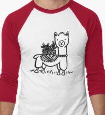 Hand drawn llamas Men's Baseball ¾ T-Shirt