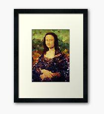 Mona Lisa Crystallized Framed Print