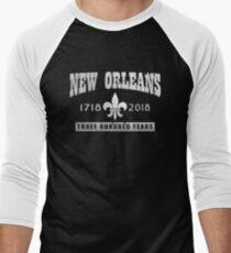 New Orleans 300th Anniversary Men's Baseball ¾ T-Shirt
